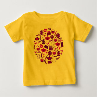 KIDS Amazing Yellow T-Shirt with COSMETIC ICONS