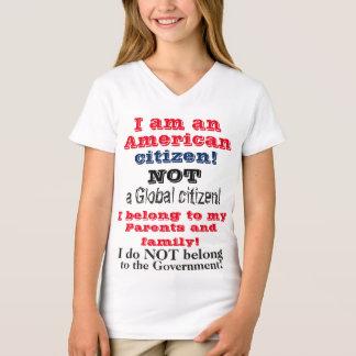 Kids American Citizen Not Global Citizen T-Shirt
