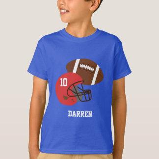 Kids American Football and Red Helmet T-Shirt