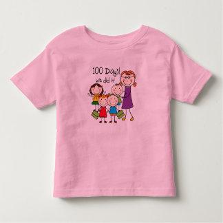 Kids and Female Teacher 100 Days Shirt