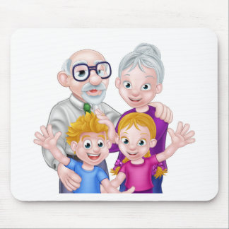 Kids and Grandparents Mouse Pad