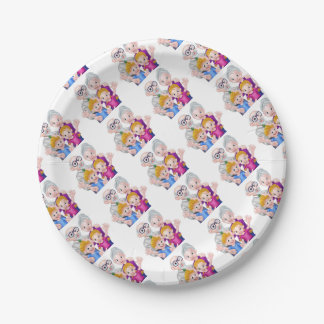 Kids and Grandparents Paper Plate