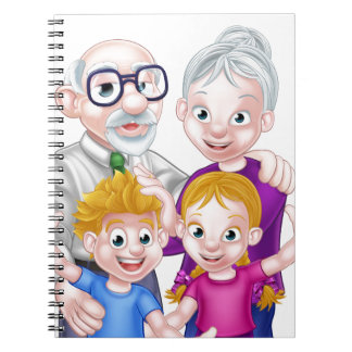 Kids and Grandparents Spiral Note Book