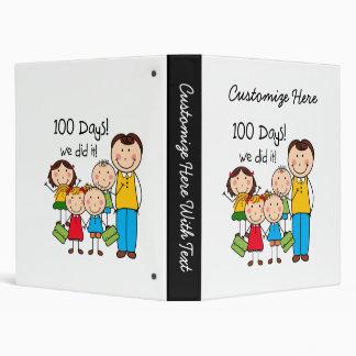 Kids and Male Teacher 100 Days Binder