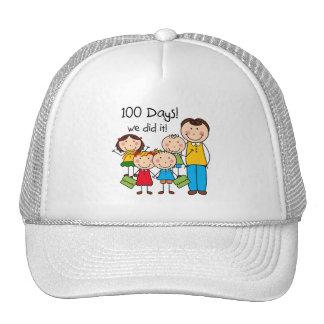Kids and Male Teacher 100 Days Mesh Hats