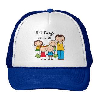 Kids and Male Teacher 100 Days Trucker Hats