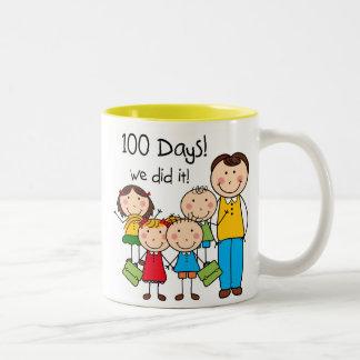 Kids and Male Teacher 100 Days Coffee Mug