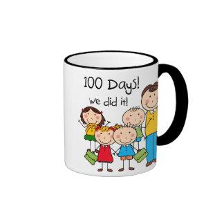 Kids and Male Teacher 100 Days Mugs