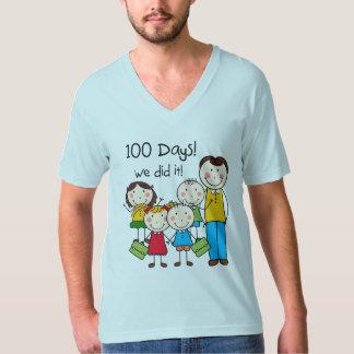 Kids and Male Teacher 100 Days T-Shirt