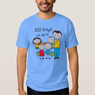 Kids and Male Teacher 100 Days T Shirts