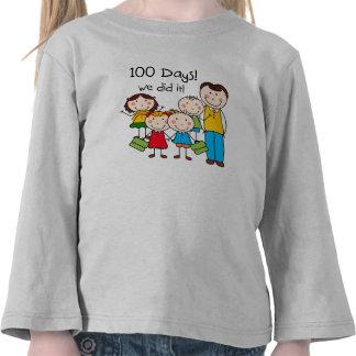 Kids and Male Teacher 100 Days Tshirt