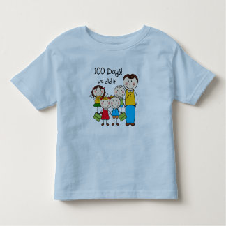 Kids and Male Teacher 100 Days Tshirts
