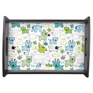 kids animal background pattern food tray