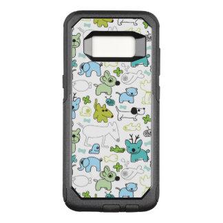 kids animal background pattern OtterBox commuter samsung galaxy s8 case