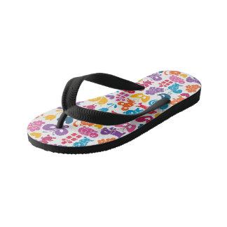 Kids Animal pattern flip flops