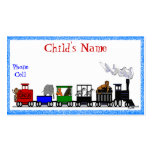 Kid's Animal Train Calling Card Pack Of Standard Business Cards
