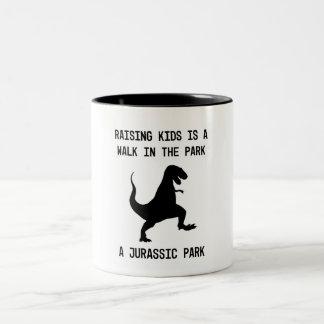 Kids are Dinosaurs Two-Tone Coffee Mug