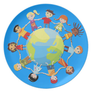 Kids Around the World for Peace and Unity Plate