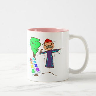Kids Art T Shirts and Kids Gifts Two-Tone Coffee Mug