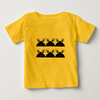 KIDS ART TSHIRT YELLOW WITH BLACK LACE