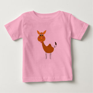 KIDS ARTISTIC T-SHIRT WITH CAMEL BROWN