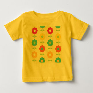 Kids artistic T-Shirt Yellow with Folk flowers