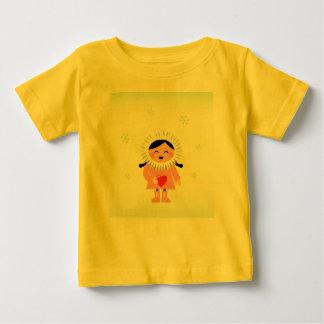 Kids artistic tshirt Yellow with Eskimo Kid