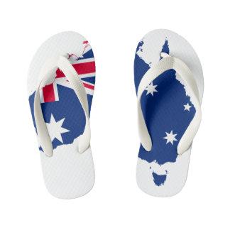 Kids Australia Map Thongs