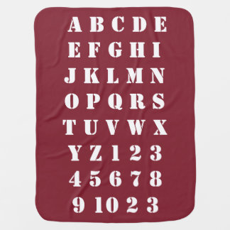 Kids Baby Children Alphabets Numbers Cosy Baby Blanket