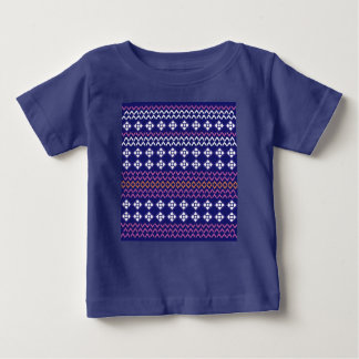 Kids baby tshirt with Folk structure / Blue