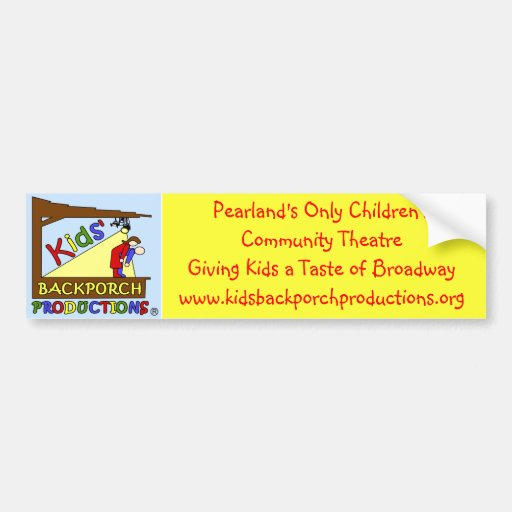 Kids' Backporch Productions Bumper Sticker