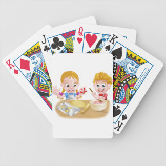 Kids Baking Cakes and Cookies Bicycle Playing Cards
