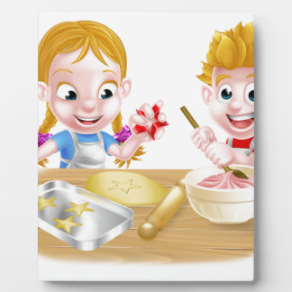 Kids Baking Cakes and Cookies Plaque