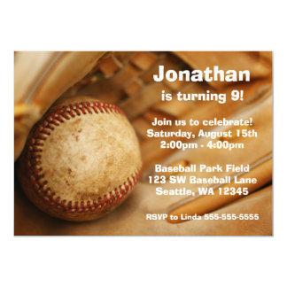 "Kids Baseball Birthday Party Invitations 5"" X 7"" Invitation Card"