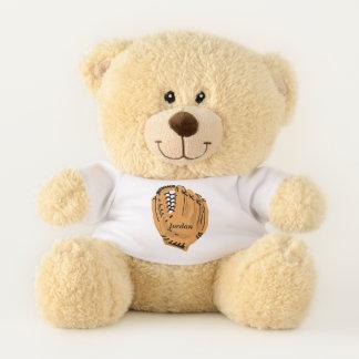 Kid's Baseball Mitt Teddy Bear