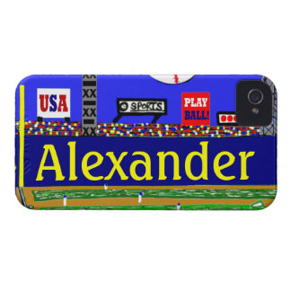 Kids Baseball Personalized iPhone 4 & 4s Case Gift