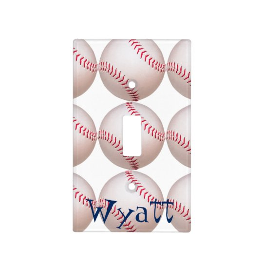 Kid's baseball personalized light cover