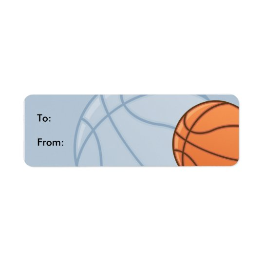 Kids Baseketball Gift Tag Labels
