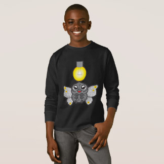 Kids' Basic Long Sleeve T-Shirt, Black with moth T-Shirt