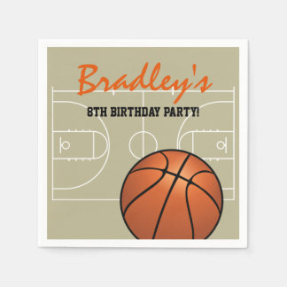 Kids Basketball Birthday Party Napkin