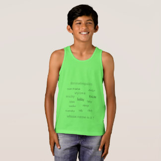 KIDS bella canvas Jersey Tank T-shirt