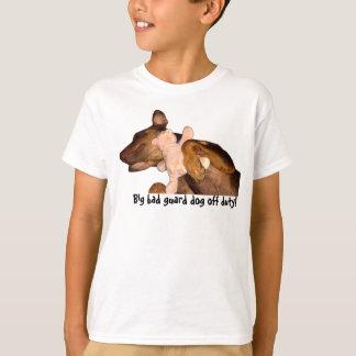 Kids-Big bad guard dog sleeping with fav toy! T-Shirt