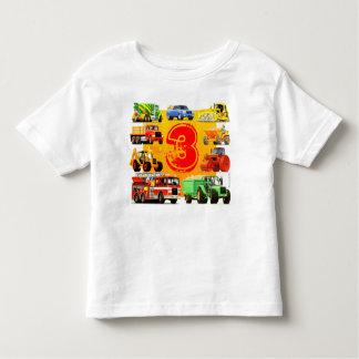 Kids Big Construction Truck 3rd Birthday Toddler T-shirt