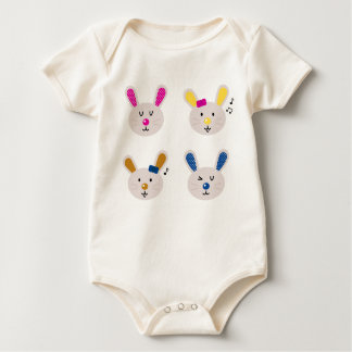 Kids bio baby body with Bunnies Baby Bodysuit