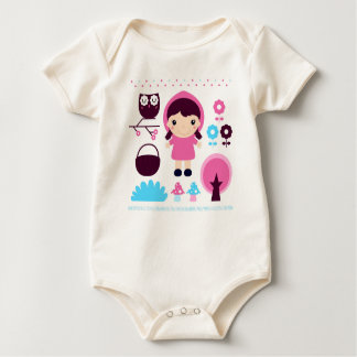 Kids bio baby body with Woods girl Baby Bodysuit