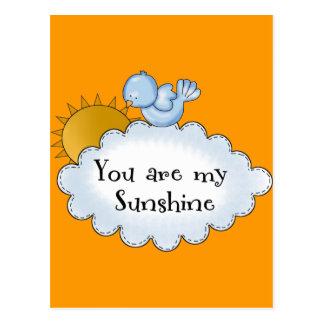 Kid's Bird Sun You Are My Sunshine Postcard