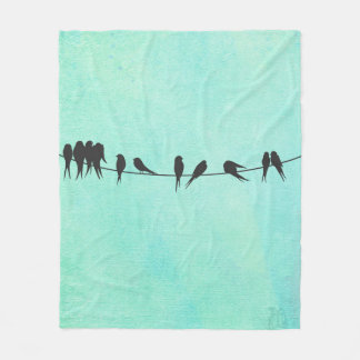 Kids, Birds On A Wire fleece blanket