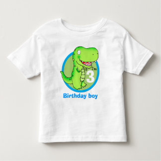 kids birthday funny cartoon T-rex Toddler T-shirt