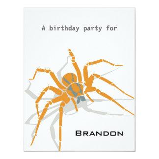 Kids Birthday Invitation - Spiders