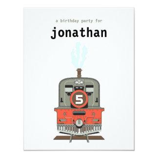 Kids Birthday Invitation - Train